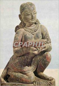 Moderne Karte Kniende Stifterin mit Spendeschale Bhatapur Museum Bhaktapur