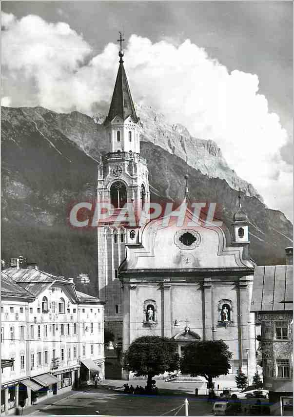 Moderne Karte Dolomiti Cortina Chiesa Parrocchiale 0