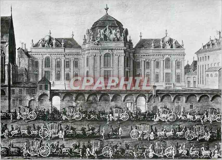 Moderne Karte Festlicher Einzug Maria Isabellas von Parma Osterreichische Nationalbibliothek 0