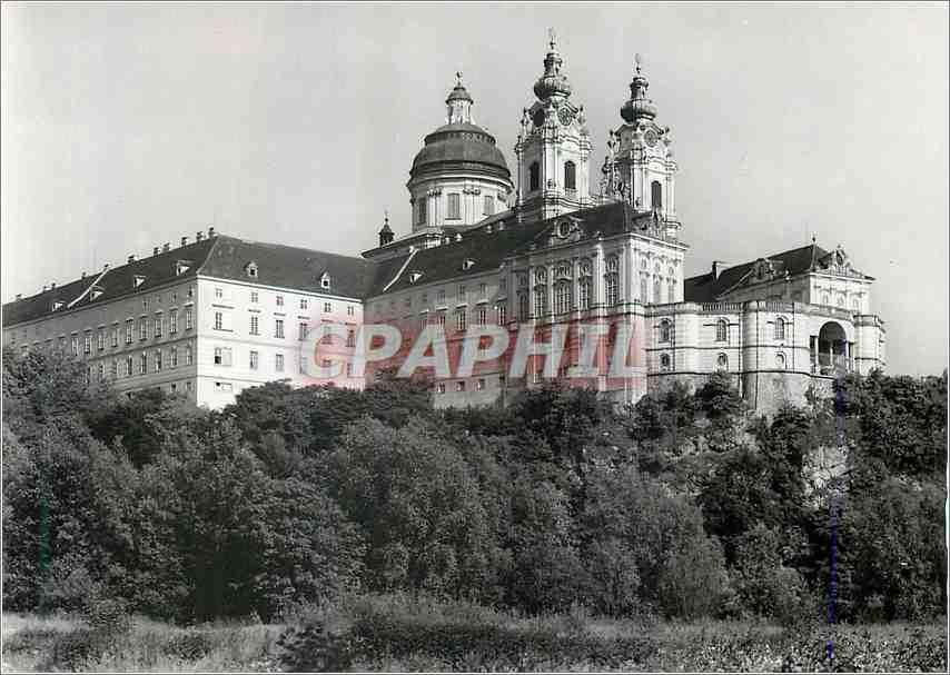 Moderne Karte Benediktinerstift Mel ad Donau Wachau 0