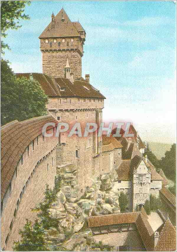 Moderne Karte Chateau de Haut Koenigsbourg (Bas Rhin) 0
