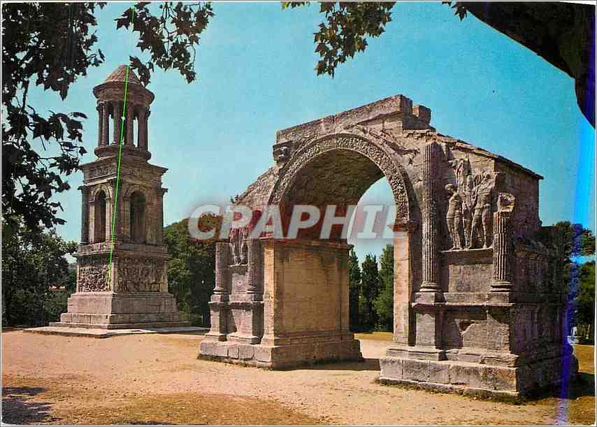 Moderne Karte Saint Remy de Provence Glanum Les Antiques Mausolee des Jules et Porte Monumentale de Glanum 0