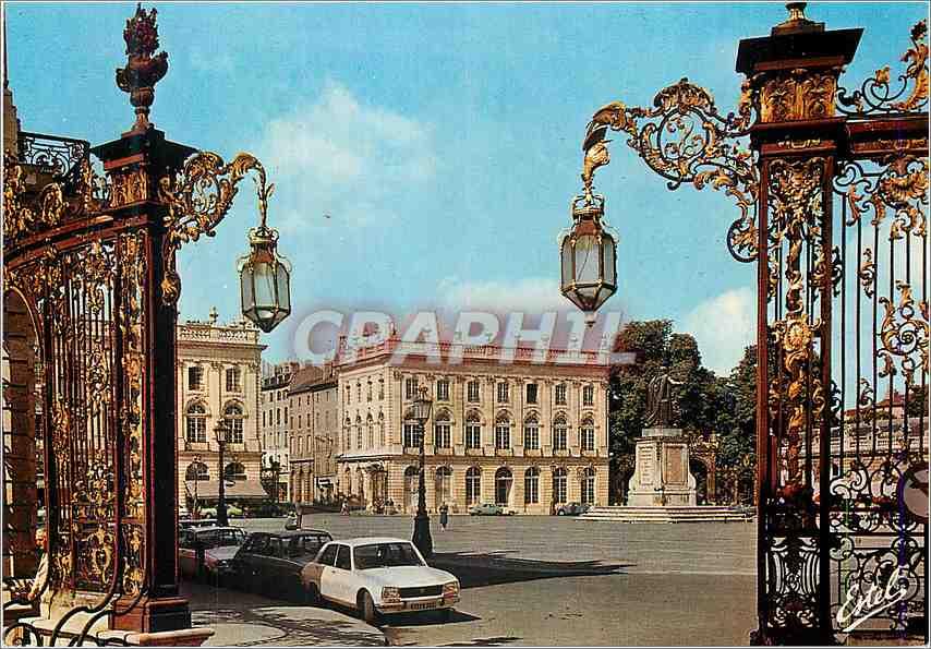 Moderne Karte Nancy (Meurthe et Moselle) La Place Stanislas Batie entre 1752 et 1756 0