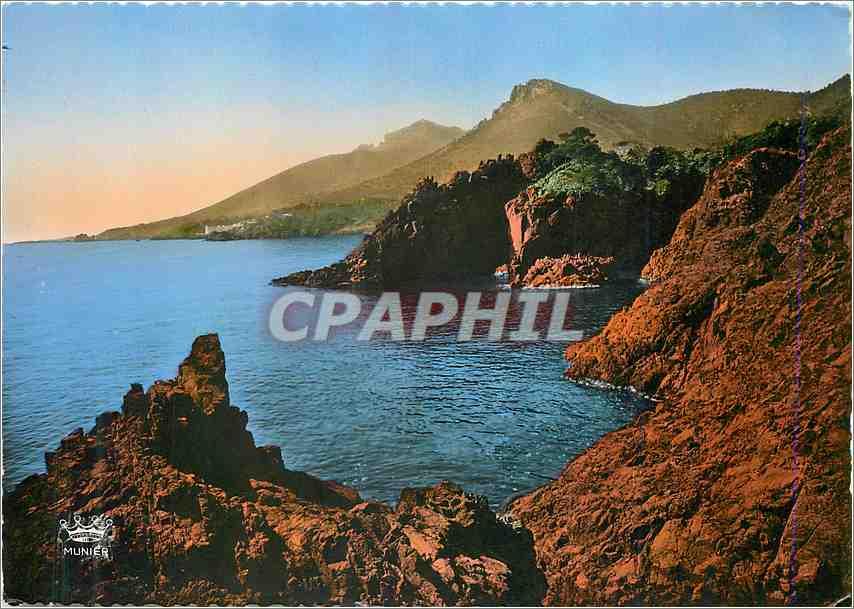 Moderne Karte La Corniche d'Or La Cote d'Azur Rochers au Trayas 0