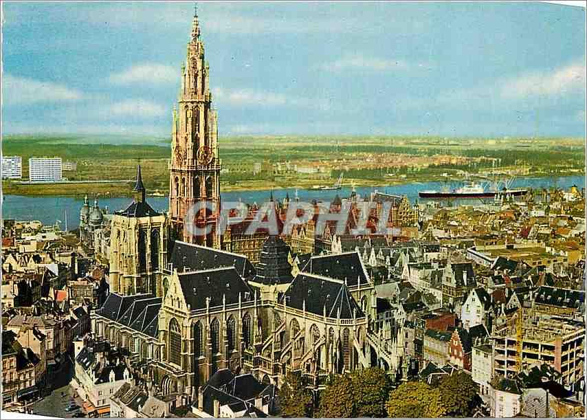 Moderne Karte Anvers Cathedrale et l'Escaut 0