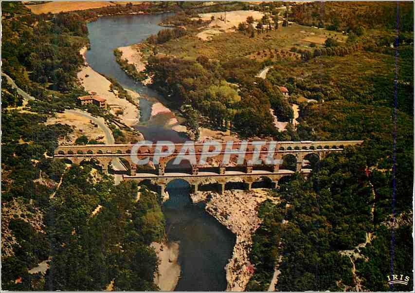Moderne Karte Pont du Gard (Gard) Reflets de Provence Vue Aerienne Aqueduc Romain 0