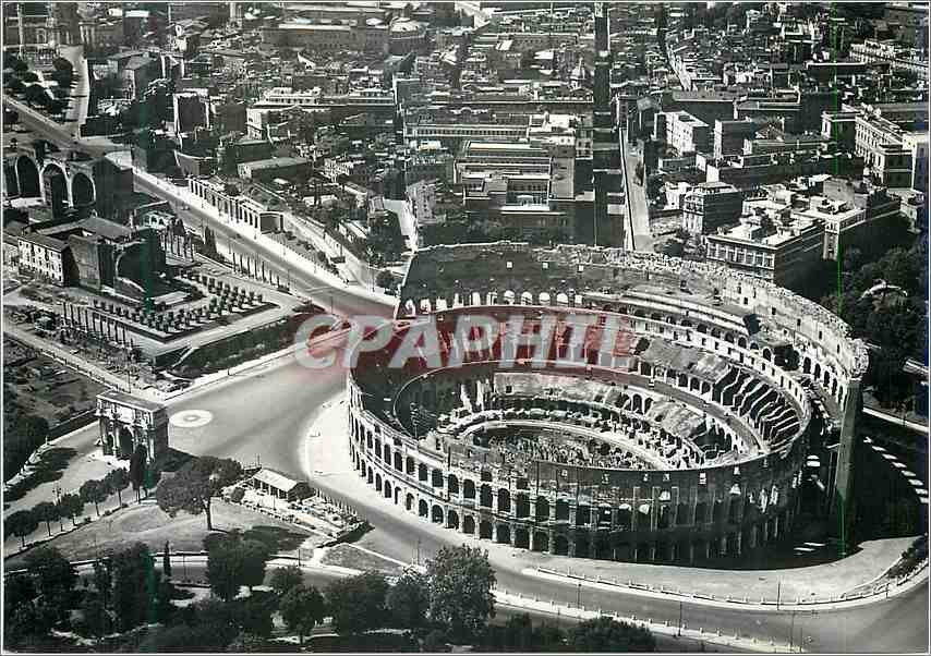 Moderne Karte Roma Zona Del Colosseo Dall'Aereo 0