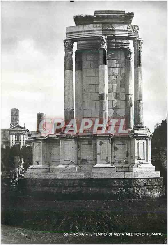Moderne Karte Roma Il Tempio Di Vesta Nel Foro Romano 0