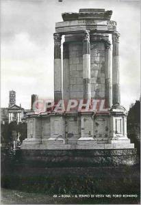 Moderne Karte Roma Il Tempio Di Vesta Nel Foro Romano
