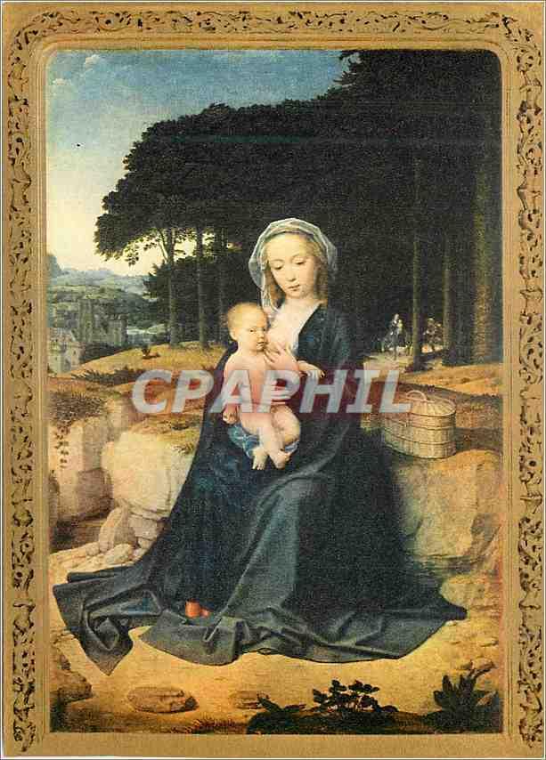 Moderne Karte Prado Madrid Descanso En la Huida A Egipto (Halte en Exil) Gerard David 0