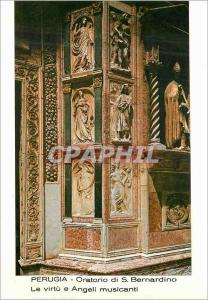 Moderne Karte Perugia Oratoire de St Bernardino les Vertus et Anges Musiciens