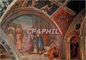 Moderne Karte Perugia  Chapelle de St Jean Baptiste la Visitation Fresque