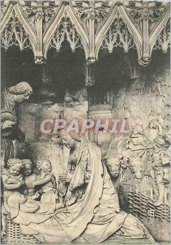 Moderne Karte Chartres (Eure et Loir) la Cathedrale Cloture du Choeur XVIe siecle Nativite de Jesus 0