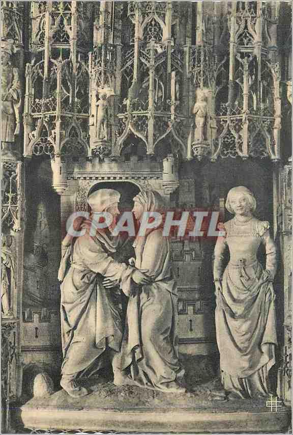 Moderne Karte Cathedrale de Chartres (E et L) Rencontre d'Anne et de Joachim 0