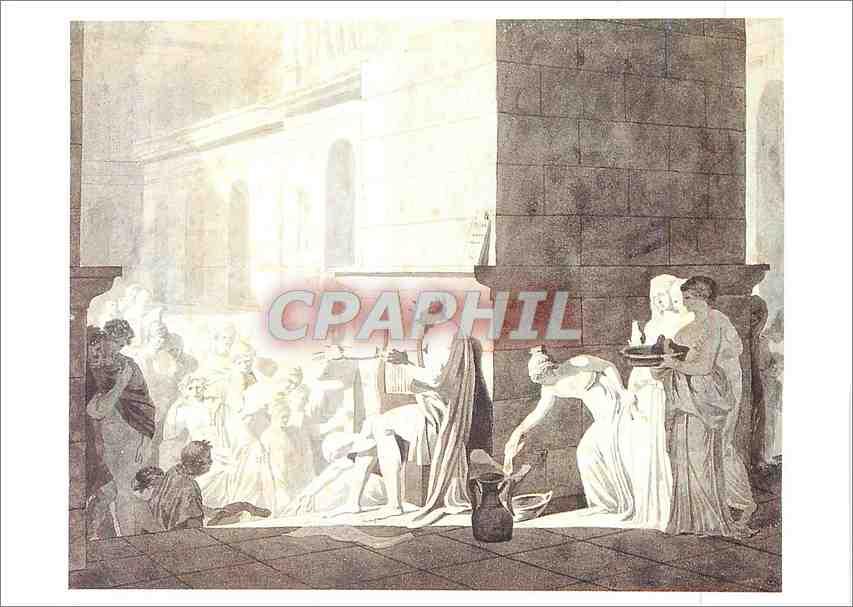 Moderne Karte Louvre Departement des Arts Graphiques Homere Recitant ses Vers aux Grecs Louis David 1748 1825 0