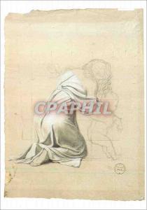 Moderne Karte Louvre Exposition David 1989 1990 Etude pour une Sabine Louis David 1748 1825