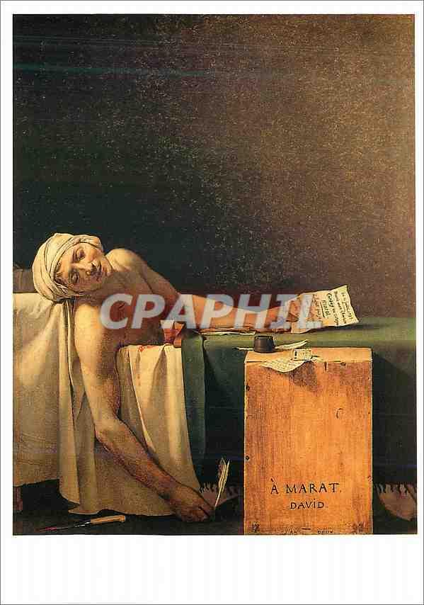 Moderne Karte Louvre Exposition David 1989 1990 Marat Assassine Toile Louis David 1748 1825 0