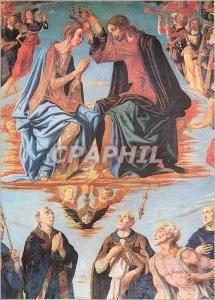 Moderne Karte S Gimignano Chiesa S Agostino Couronnement de la Vierge (Piero del Pollaiolo 1483)