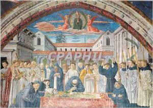 Moderne Karte S Gimignano Chiesa S Agostino La Mort de St Augustin (B Gozzoli 1465)