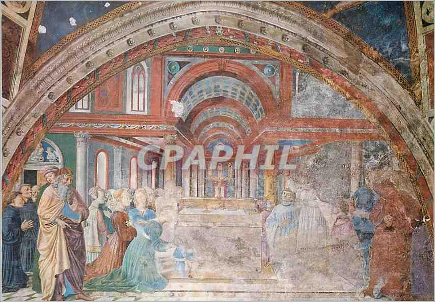 Moderne Karte S Gimignano Chiesa S Agostino L'Eveque St Augustin Benit le Peuple d'Hippone (B Gozzoli 1465) 0