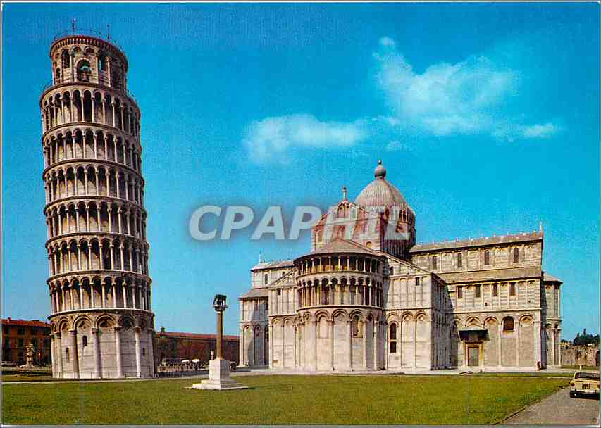 Moderne Karte Pisa Tour Penchante et Abside du Dome 0