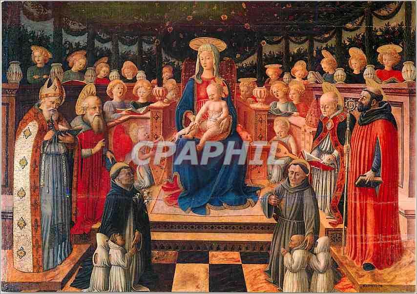 Moderne Karte Perugia Galleria Nazionale dell'Umbria Giovanni Boccati Vierge de la Tonnelle 0