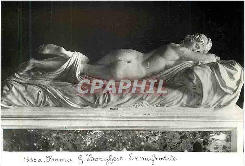 Moderne Karte Roma G Borghese Ermafrodite 0