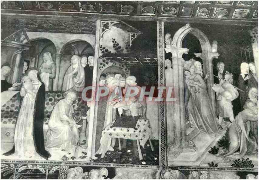 Moderne Karte Urbino Chiesa di S Giovanni Affreschi di Lorenzo e Iacopo Salimbeni 0