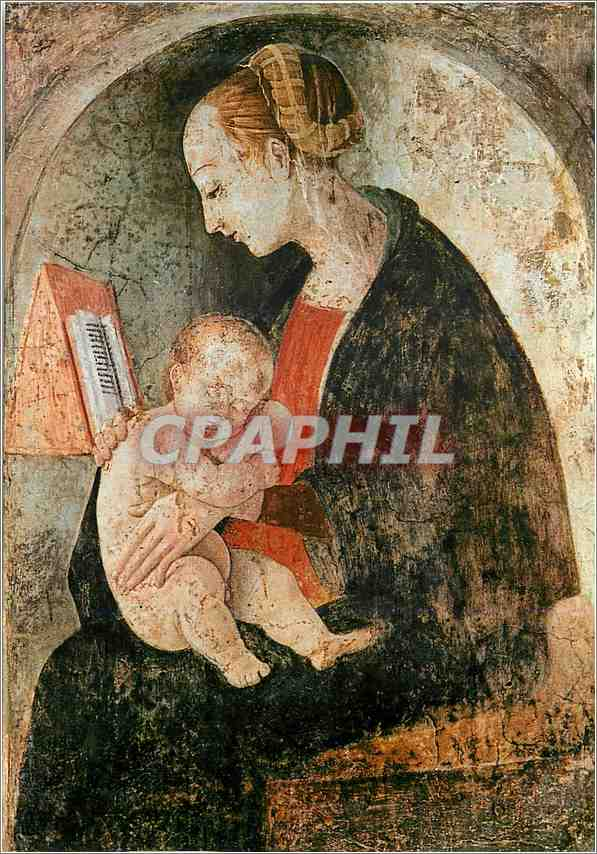 Moderne Karte Urbino Raffaello Sanzio Musee de la Maison Raphael Urbin Fresque Existant dans la Maison Natale 0
