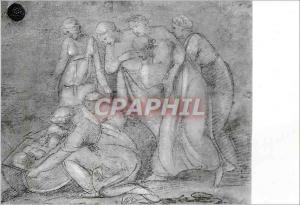 Moderne Karte Raffaello Sanzio (1483 1520) La Maison Raphael Urbino Moise Vient Sauve des Eaux