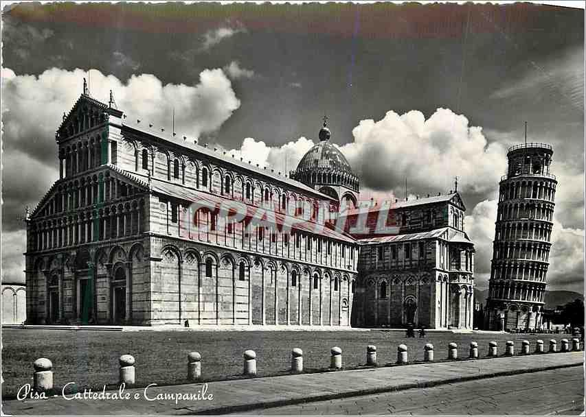 Moderne Karte Pisa Cathedrale e Campanile 0