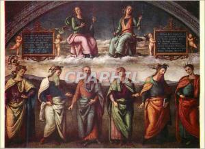 Moderne Karte Perugia Collegio del Cambio La Lunete avec la Prudence et la Justice