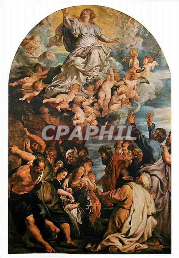 Moderne Karte Wien Kunsthistorisches Museum Peter Paul Rubens 1577 1640 L'Assomption de la Vierge 1620 0