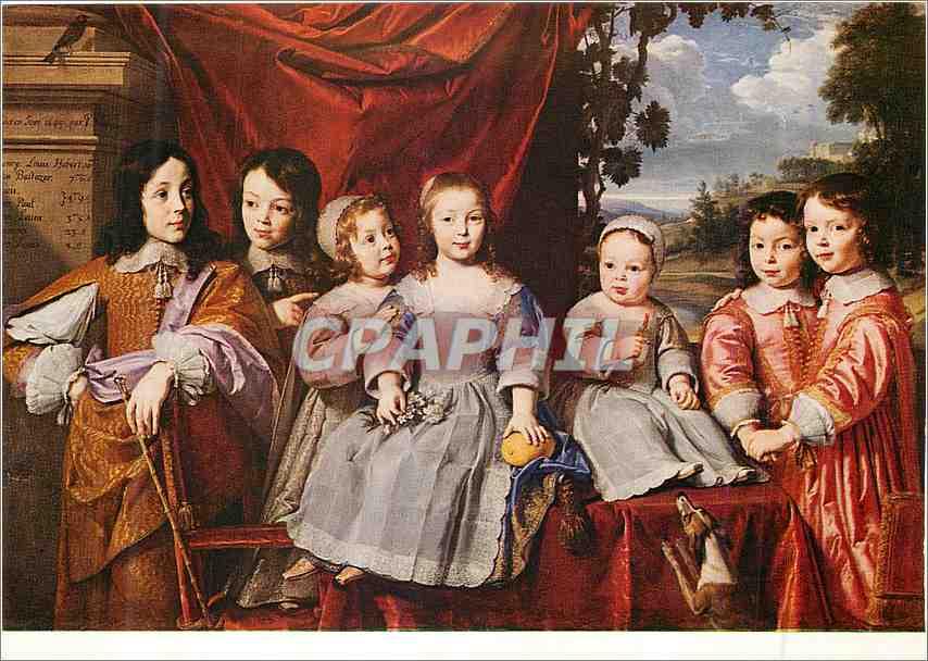 Moderne Karte Reims Musee Saint Denis Philippe de Champaigne(1602 1674) les Enfants Habert de Montmor 0