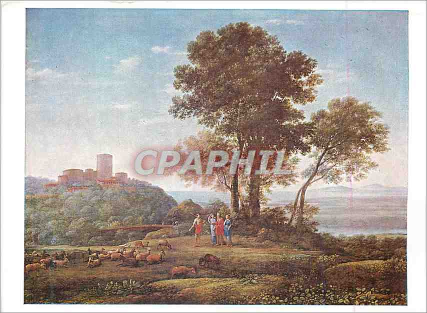 Moderne Karte Dulwich College Picture Gallery London Claude Lorrain (1600 1682) Jacob with Laban and his Daugh 0