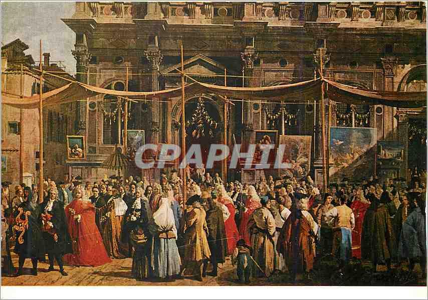 Moderne Karte Londra Galleria Nazionale Canaletto la Festa di San Rocco 0