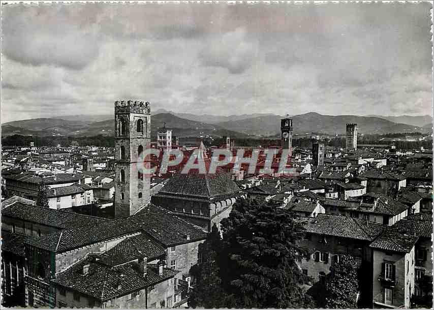 Moderne Karte Lucca Panorama 0