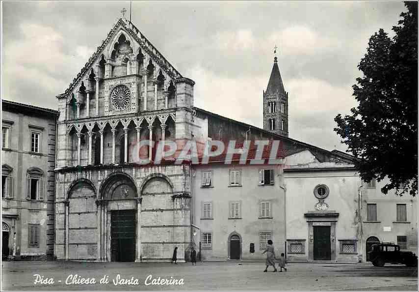 Moderne Karte Pisa Eglise de S Caterina 0