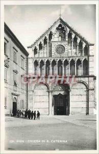 Moderne Karte Pisa Chiesa Di S Caterina
