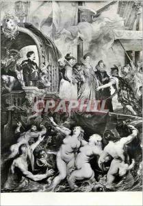 Moderne Karte Paris Musee du Louvre Rubens Pierre Paul (1577 1640) Histoire de Marie de Medicis
