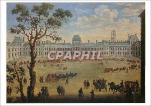Moderne Karte Louvre Ecole Francaise Vue Imaginaire des Tuileries Toile