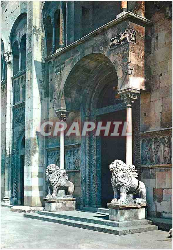 Moderne Karte Modena Dome Porte de la Reine Lion 0