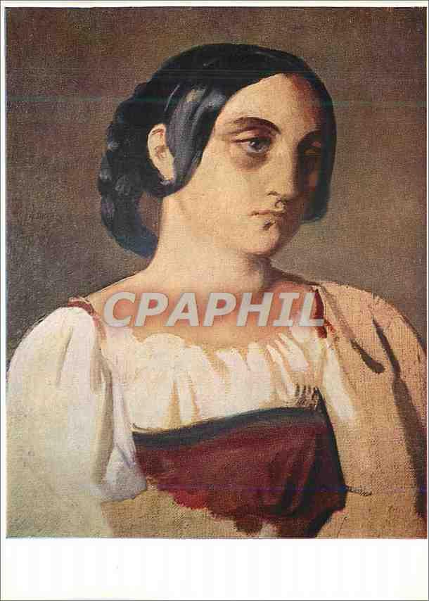 Moderne Karte Gent Museum Voor Schone Kunsten Theodore Chasseriau 1819 1856 Jeune Italienne 0