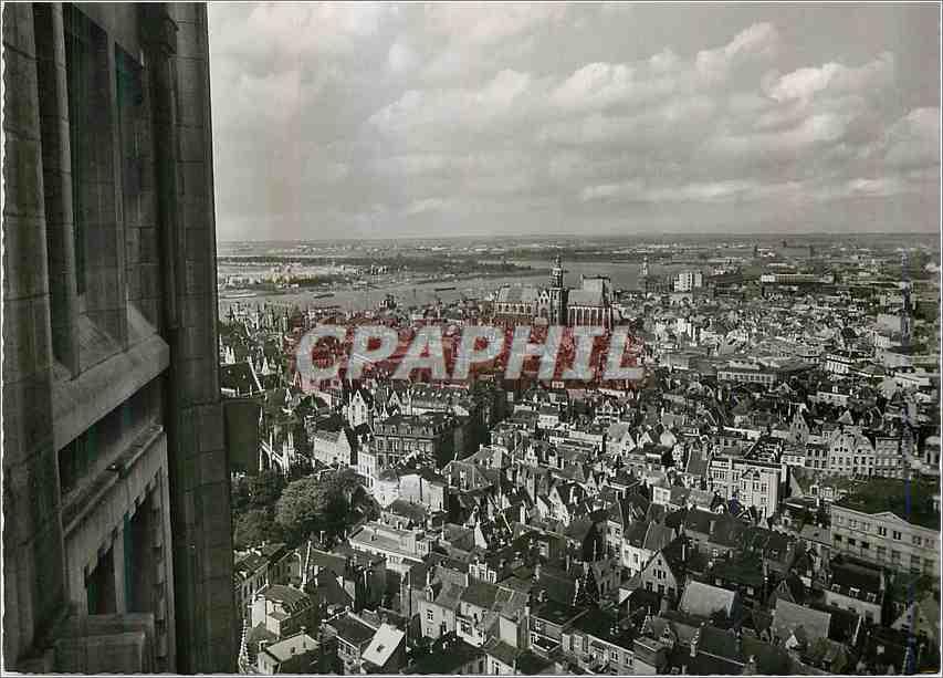 Moderne Karte Antwerpen Zicht Van Uit Torengebouw Brabo Reeks 0