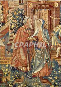 Moderne Karte Reims Cathedrale Tapisseries de la vie de la Vierge Mariage d'Anne et de Joachim parents de la V