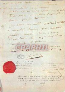 Moderne Karte Paris Musee de l'Histoire de France Archives Nationales Testament de Napoleon 1er (16 avril 1821
