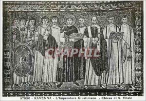 Moderne Karte Ravenna L'imperatore Giustiniano Chiesa di S Vitale