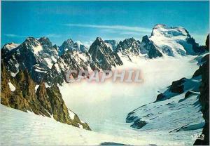 Moderne Karte Massif des Ecris (Hautes Alpes) Le Pelvoux Le Pic sans nom l'Ailefroide
