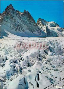 Moderne Karte Massif de l'Oisans Pelvoux Ailefroide (Htes Alp) Le glacier Blanc et la Barre des Ecrins