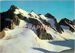 Moderne Karte Massif de l'Oisans Roche Faurio et le Glacier blanc
